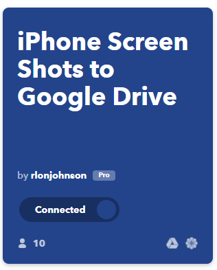 IFTTT iphone screanshot to googledrive